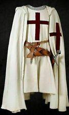 Medieval Red Templar Tunic Surcoat & Cloak Crusader Sleeveless Renaissance Larp