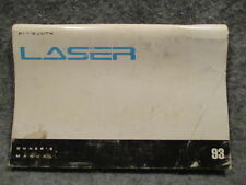 1993 Plymouth Laser Owners Users Manual Guide Reference Book 81-526-3150 L254