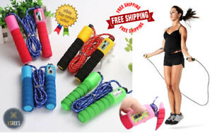 Skipping Rope Jump Counter Speed Boxing Gym Fitness Workout Adult Kids Free P&P