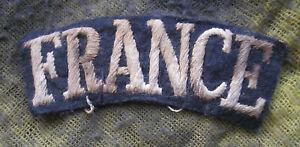 WW2 FREE FRENCH FRANCE SHOULDER BADGE  AIRBORNE FORCES - SAS  ORIGINAL