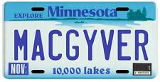 Macgyver Tv Show Minnesota License Plate