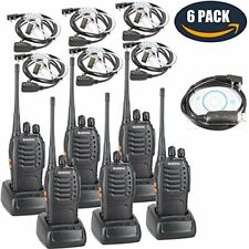 BaoFeng BF-888S Two Way Radio with Built in LED Flashlight (Pack of 6) +Covert A