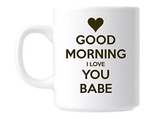 Romantic Valentines Gift Mug I Love You Babe
