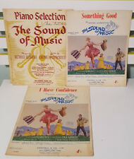 SET OF 8X RODGERS & HAMMERSTEIN'S THE SOUND OF MUSIC SHEET MUSIC!