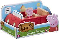 Peppa Pig Peppa's Bois Famille Voiture Rouge & Figurine Ensemble de Jeux