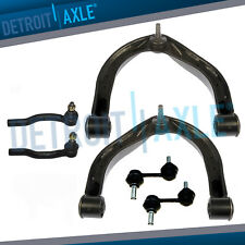 Front Upper Control Arms Outer Tie Rod Sway Bar for 2004 - 2015 Nissan Titan