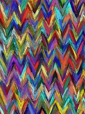 ABSTRACT ZIG ZAG MULTI COLOURED PHOTO ART PRINT POSTER PICTURE BMP1865A