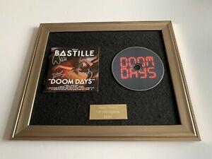 SIGNED/AUTOGRAPHED BASTILLE - DOOM DAYS FRAMED CD PRESENTATION. DAN SMITH