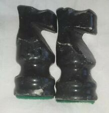 (2) Vintage Chess Pieces Marble Replacement Knights Free Shipping