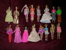 "16 Vintage DAWN HEATHER Dolls  6 1/2"" With Clothes Sunglasses Mattel 1970's CUTE"