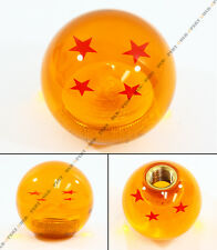 M10 X 1.5 JDM DRAGON BALL Z RED 4 STARS STYLE ACRYLIC ROUND SHIFT KNOB FOR HONDA