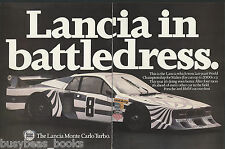 1980 LANCIA MONTE CARLO TURBO 2-page advertisement, British advert, race car