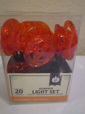HALLOWEEN PUMPKIN LED LIGHTS 20 BATTERY OPERATED NIP