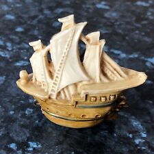 Vintage Celluloid Novelty Tape Measure In Form Of Galleon - Retractable Tape