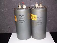 Two vintage ITT PIO capacitors 32 uF / 3.75KV 32mfd / 3.75KV W. Germany 1971