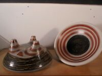 Céramique Vintage 50 Rare Duo Coupes Molaire Tribal Guillot Vallauris