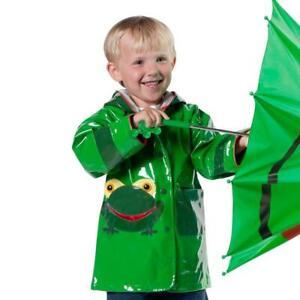 Kidorable Frog Raincoat Childrens Kids Unisex Green Waterproof Hooded Rain Mac
