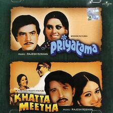 Priyatama / Khatta Meetha - 2 IN ONE FILM CD BOLLYWOOD SONGS - FREE UK POST