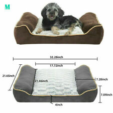 Fluffy Soft Sofa Dog Bed Muti-Size Thicken Foam Pet Sleeping Bed Removable Cover