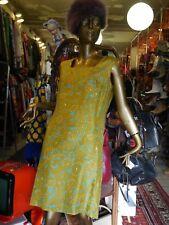 Kleid S-M Paisley Hippie 60er shift dress TRUE VINTAGE 60s shiny MOD dress