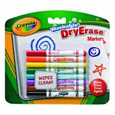 Crayola 98-2002 Washable Dry Erase Skinny Markers - Multicoloured