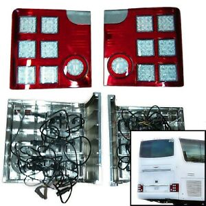 Replacement LED Tail Lights - 1997-2013 Van Hool T Series Buses (Left and Right)