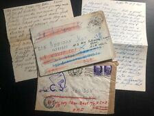 1945 Field post England Reme Correspondence 2 Covers Letters Ron Addison