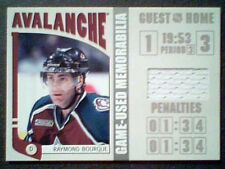 RAY BOURQUE   AUTHENTIC PIECE OF A COLORADO AVALANCHE GAME-USED JERSEY /70   SP
