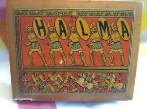 Vintage Halma Wooden Games Pieces Boxed
