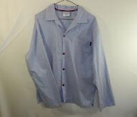 Calvin Klein Mens Long Sleeve 100% Cotton Pajama Shirt Size SMALL S