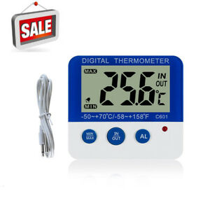 Digital Thermometers Home Indoor/Out LED Temperature Monitor Freezer Alarm ℃/℉