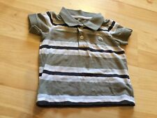 Baby Boy's H&M striped short -sleeve t-shirt (6 months), pre-owned.