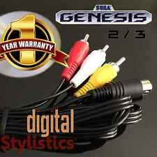 AV Cable Cord (NEW) Sega Genesis 2 & 3  (A/V Audio Video) 6FT. (9-pin) MK-1631