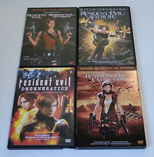 Lot of 5 Resident Evil Movies on DVD - EXCELLENT!
