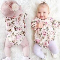 Newborn Baby Girls Floral Cotton Bodysuit Romper Jumpsuit Infant Clothes Outfits