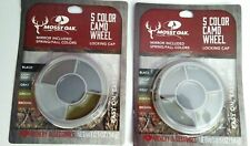 Mossy Oak 5 Color Camo Wheel Spring/Fall Colors Locking Top & Mirror 2 pack