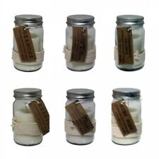 1pce Solid Glass 5% Oil Scented Candle in Mason Style Jar with Sealed Lid and Ro