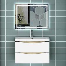 Badmöbel Set 80 cm mit LED Spiegel Badezimmermöbel Waschtisch mit Unterschrank
