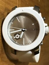 Nixon - The Raider Watch - Women's White/Silver - Accented Crystals