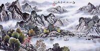 ORIGINAL ASIA FINE ART CHINESE SANSUI WATERCOLOR PAINTING-Landscape&Mountains