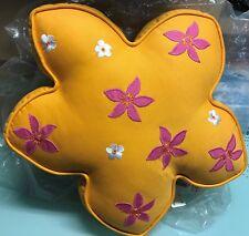 Dean Miller 'Return to Maui' Tangerine Flower Accent Pillow BRAND NEW!