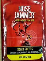 """Nose Jammer dryer sheets jams big game animals ability to smell 15-6.5"""" x 9"""""""