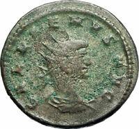 GALLIENUS son of Valerian I 266AD Authentic Ancient Roman Coin Sol Sun i76055