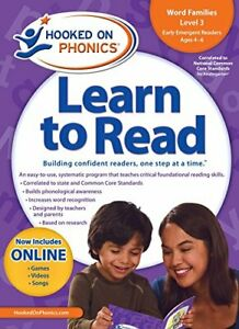 Hooked On Phonics Learn To Read Kindergarten Level 3 by Hooked On Phonics