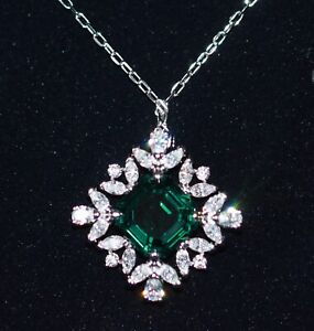 Swarovski Necklace 5498832 Palace, Emer Green, Rhodium-Plated New