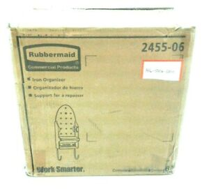 Rubbermaid Commercial Ironing Organizer #2455-06 Solid White Case Of 6