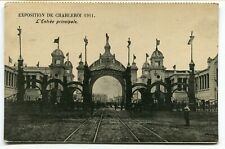 CPA - Carte Postale - Belgique - Exposition de Charleroi 1911 - Entrée Principal