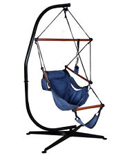 Hammock C Frame Stand Solid Steel Construction For Hanging Air Porch Swing Chair