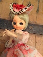 Giapponese Big Eye Doll Stockinette RAGAZZA ANNI 60 VINTAGE GIAPPONE Bradley? DOLL 1