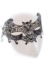 Nuevo Punk Encaje Negro Bat Mask Disfraz Halloween Máscara de ojo de fiesta de baile de Fiesta de Mujer